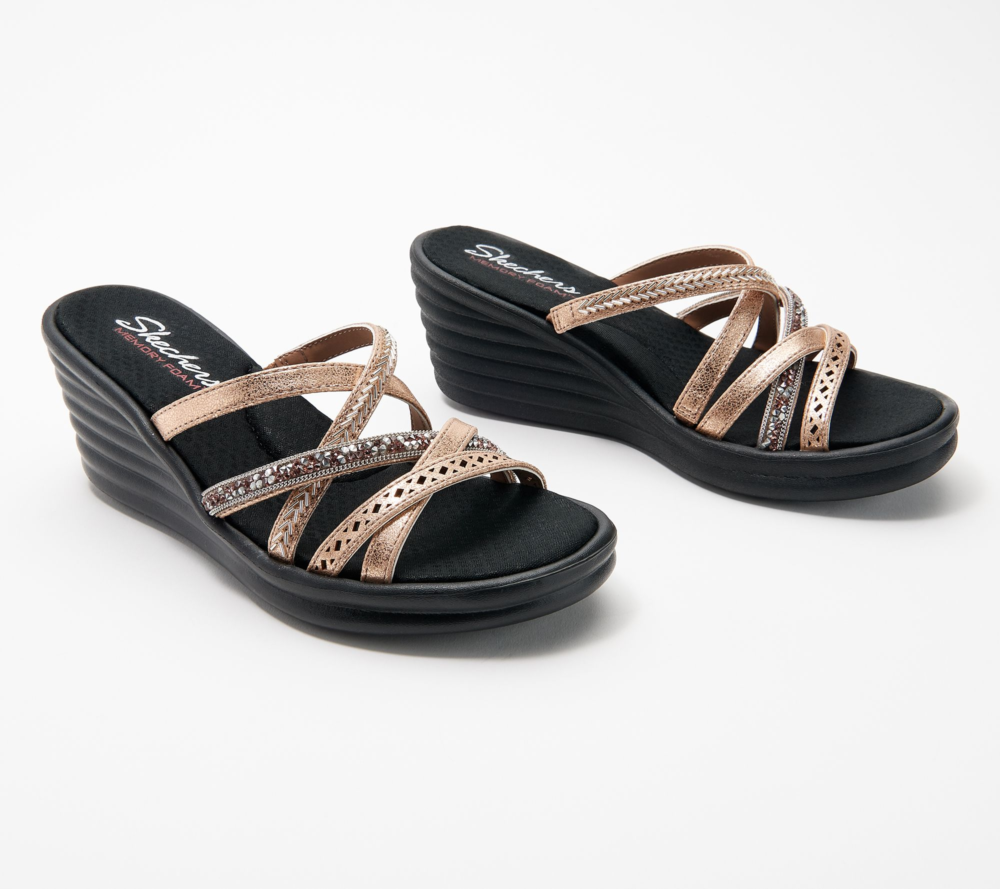 Strap Skechers New Multi Page Sandals Wave Rumbler Wedge Lassie xQrBWdeECo