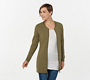 Denim & Co. Active French Terry Long Zip-Front Tunic w/ Trim - A367905