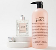 philosophy grace and love super-size fragrance and shower gel set - A387905