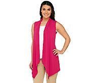 Susan Graver Liquid Knit Cascade Open Front Vest - A265006