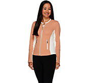 G.I.L.I. Blister Knit Jacket with Milano Ponte Side Panels - A268406