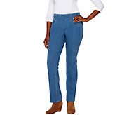 Denim & Co. Perfect Denim Regular Smooth Waist Lightly Bootcut Jeans - A269206