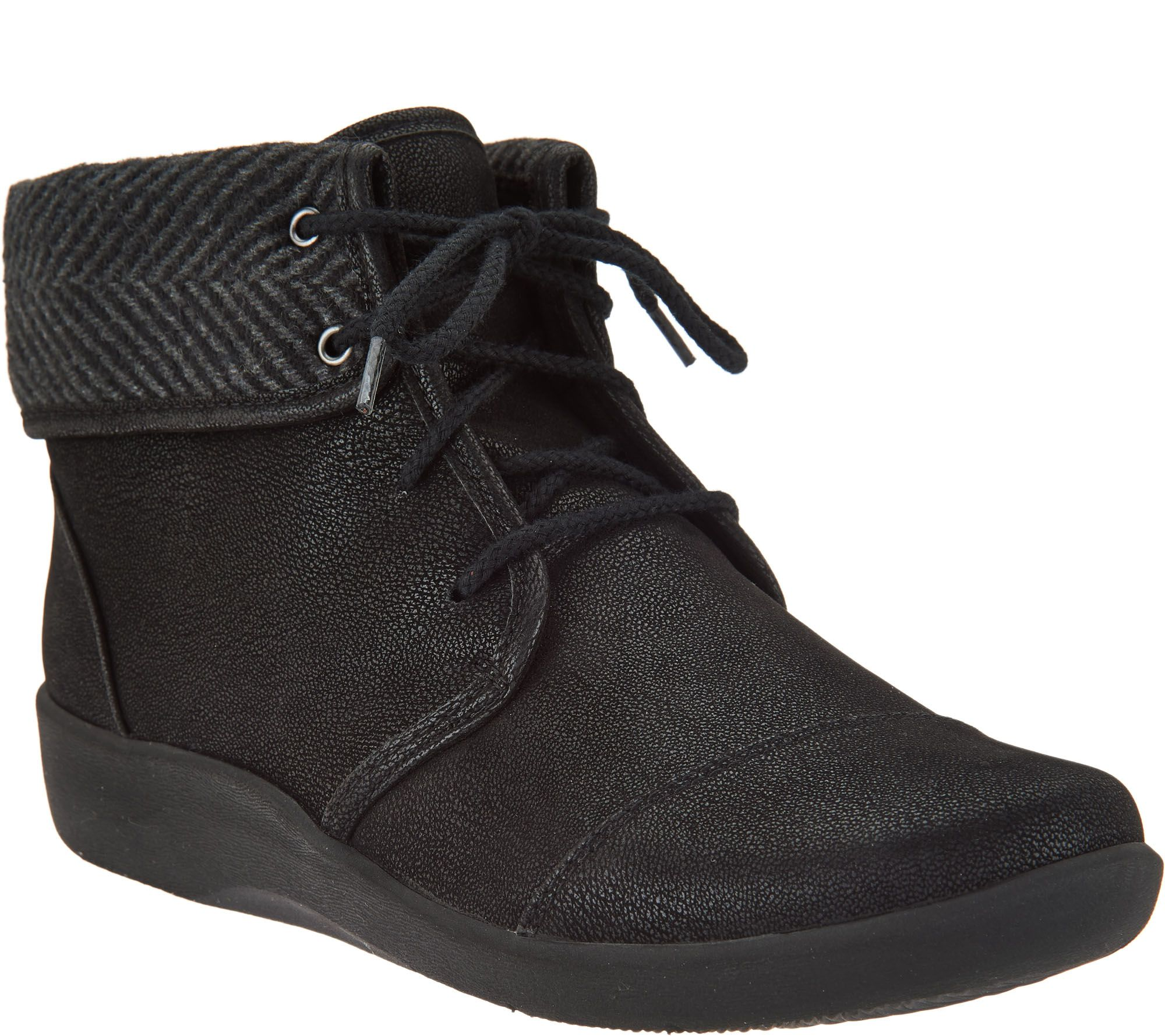 93a3999e770 CLOUDSTEPPERS by Clarks Lace-up Ankle Boots - Sillian Frey - Page 1 —  QVC.com