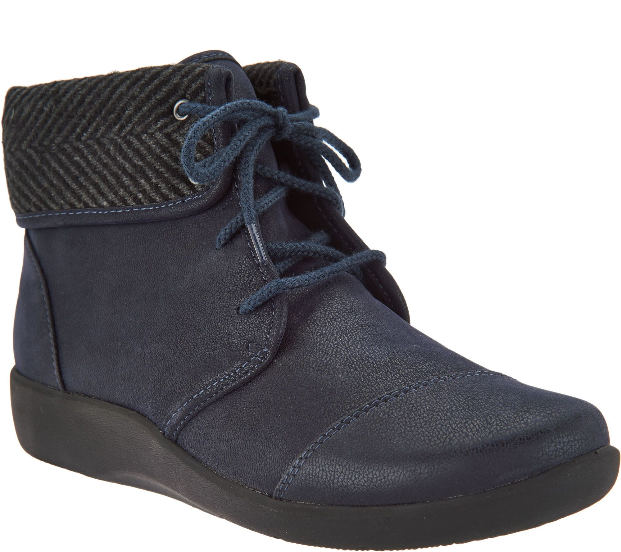 793b17f4d CLOUDSTEPPERS by Clarks Lace-up Ankle Boots - Sillian Frey - Page 1 —  QVC.com