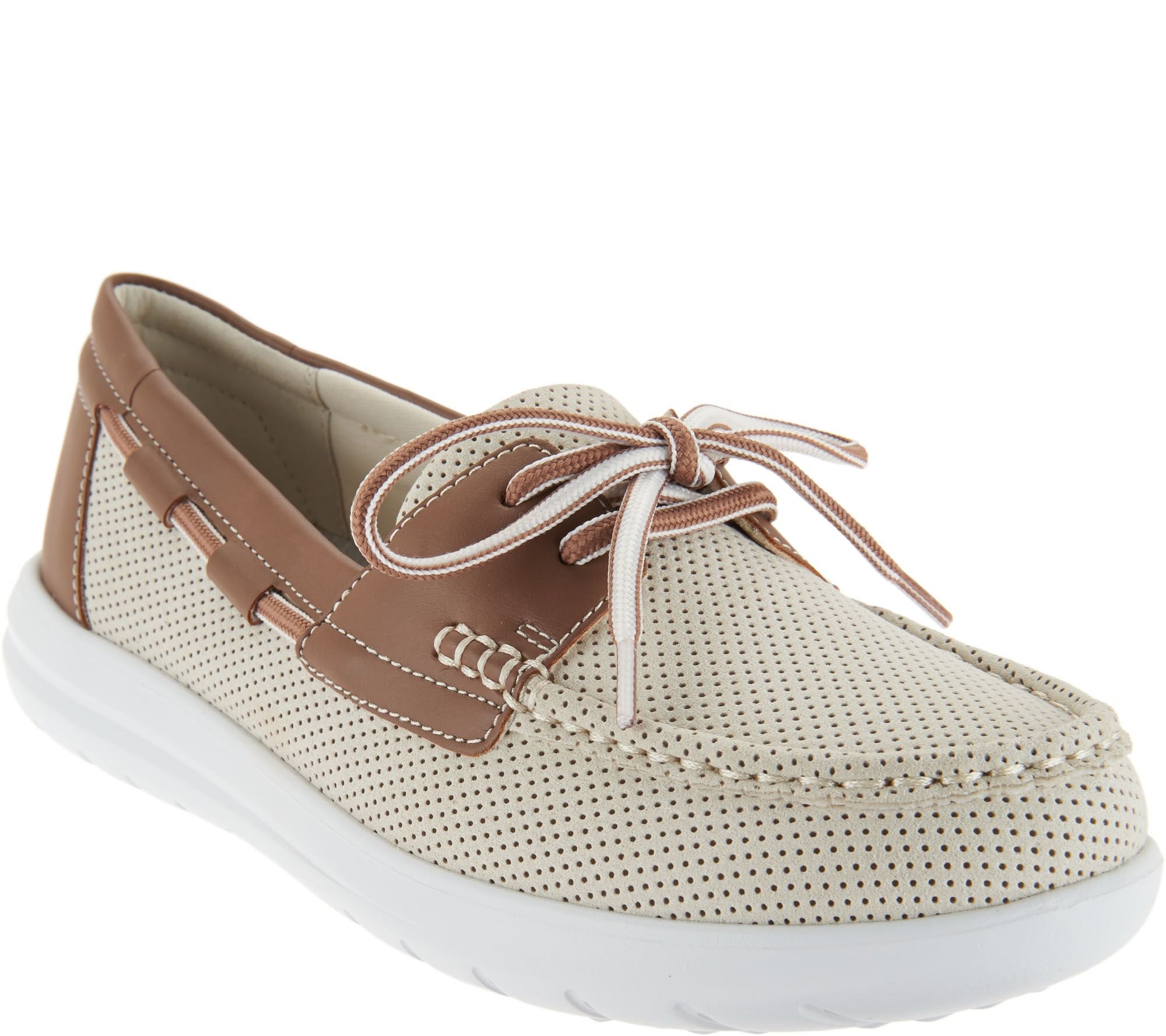 3b3748bc71ee CLOUDSTEPPERS by Clarks Boat Shoes - Jocolin Vista - Page 1 — QVC.com