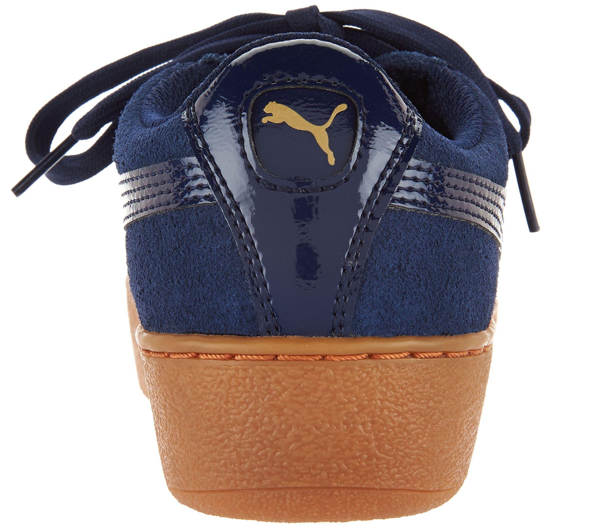 39446c96a18c PUMA Leather or Suede Platform Sneakers - Vikky Platform - Page 1 — QVC.com