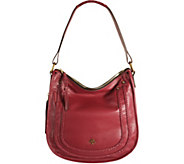 As Is orYANY Pebble Leather Hobo w/ Braiding Detail - Madelyn - A291306