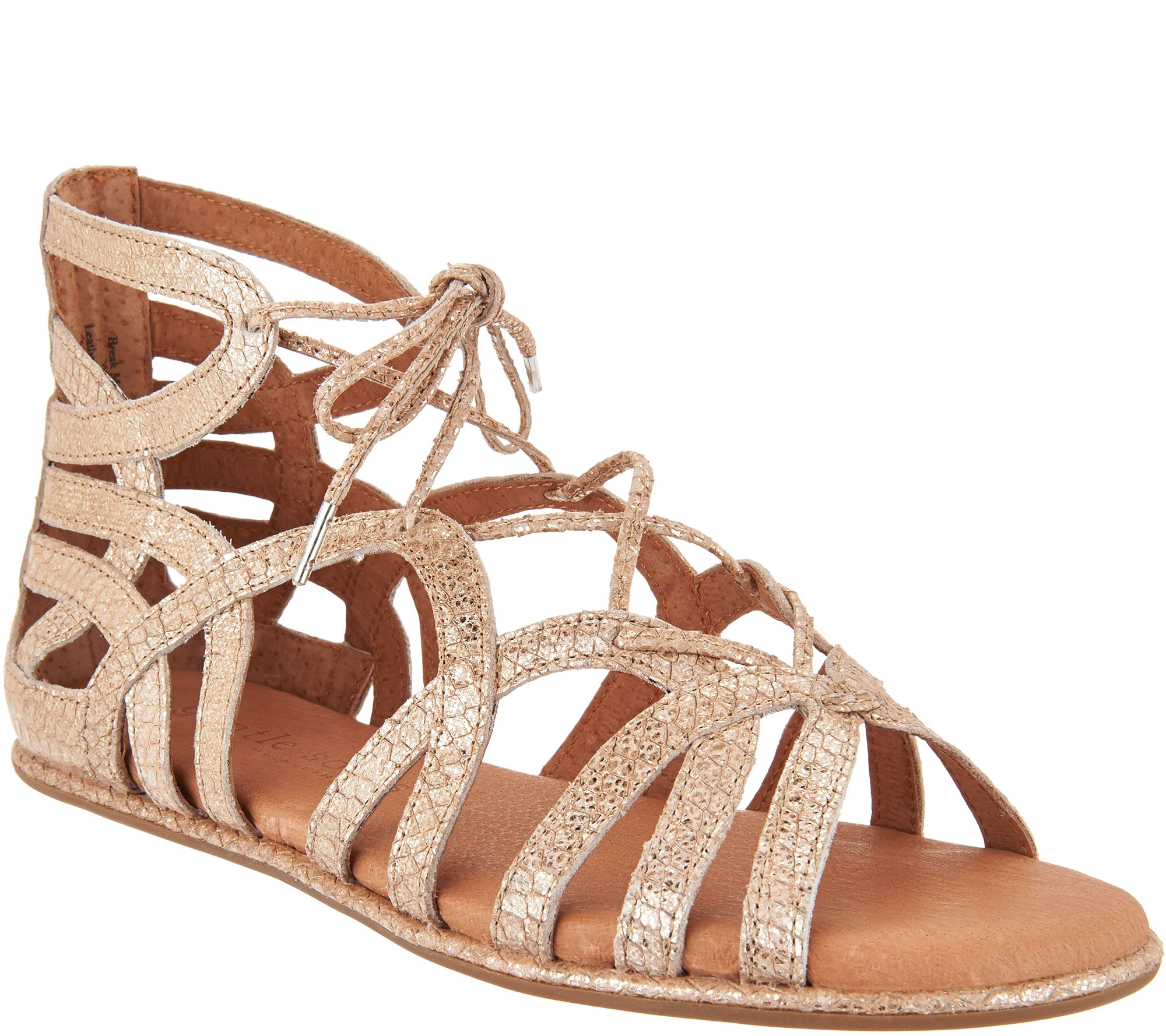 4c43c23ad3 Gentle Souls Leather Lace-up Sandals - Break My Heart - Page 1 — QVC.com