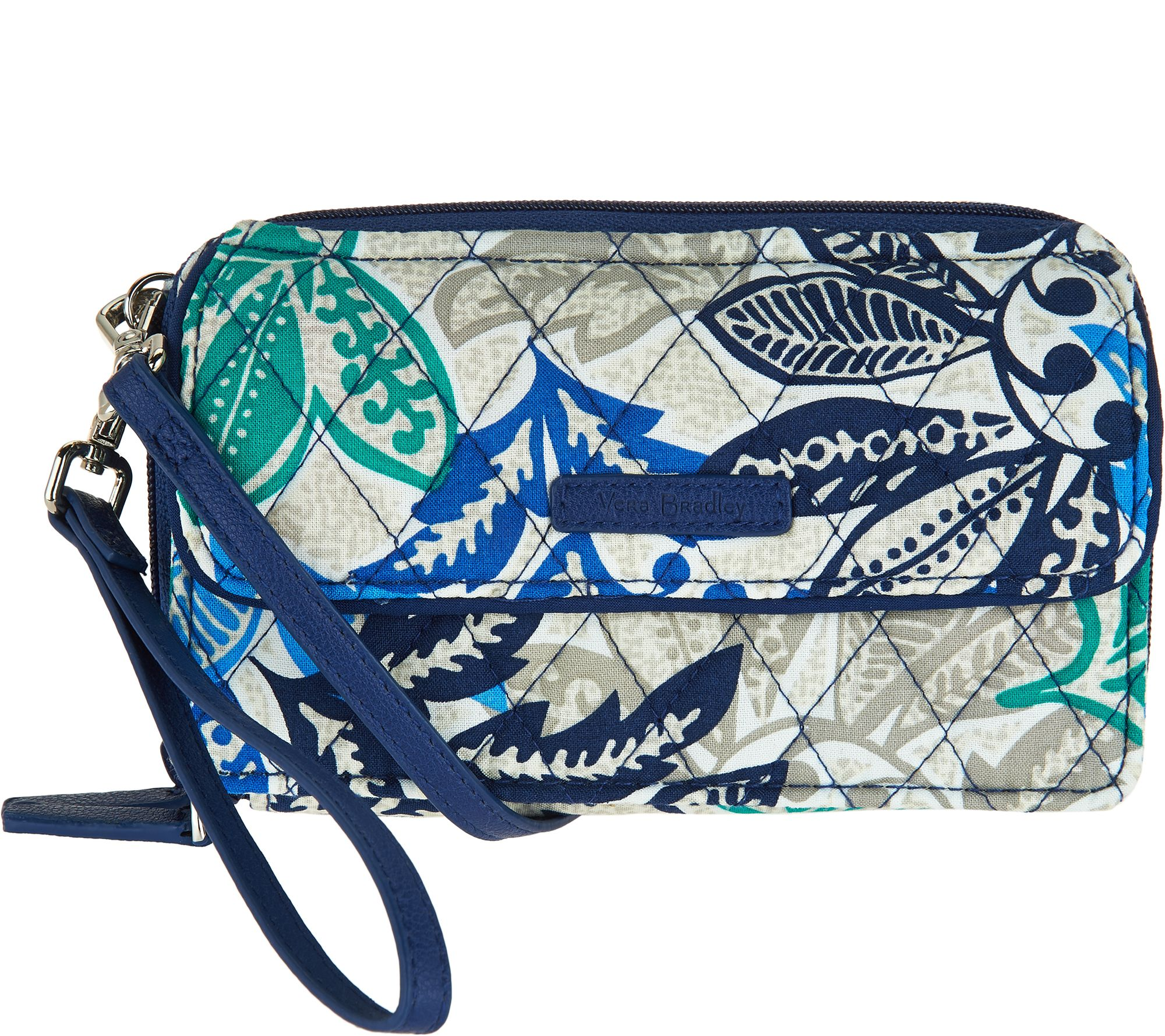 cad10aa5578 Vera Bradley Signature Print All in One RFID Crossbody - Page 1 — QVC.com