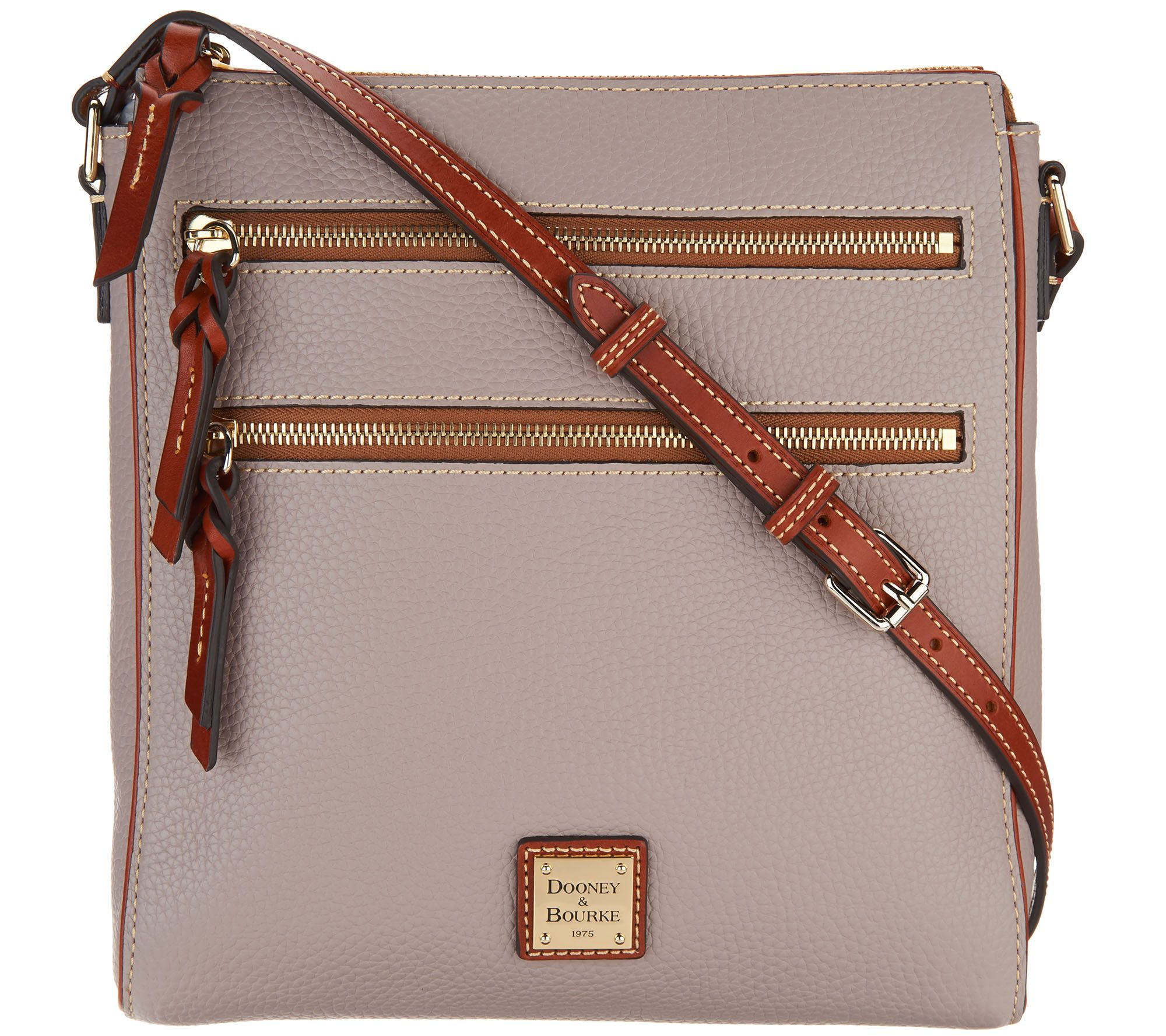 Dooney   Bourke Pebble Leather Triple Zip Crossbody Handbag - Page 1 —  QVC.com 143c87df492b1