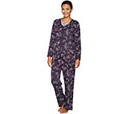 Carole Hochman Interlock Etched Floral 3-Piece Pajama Set - A293906