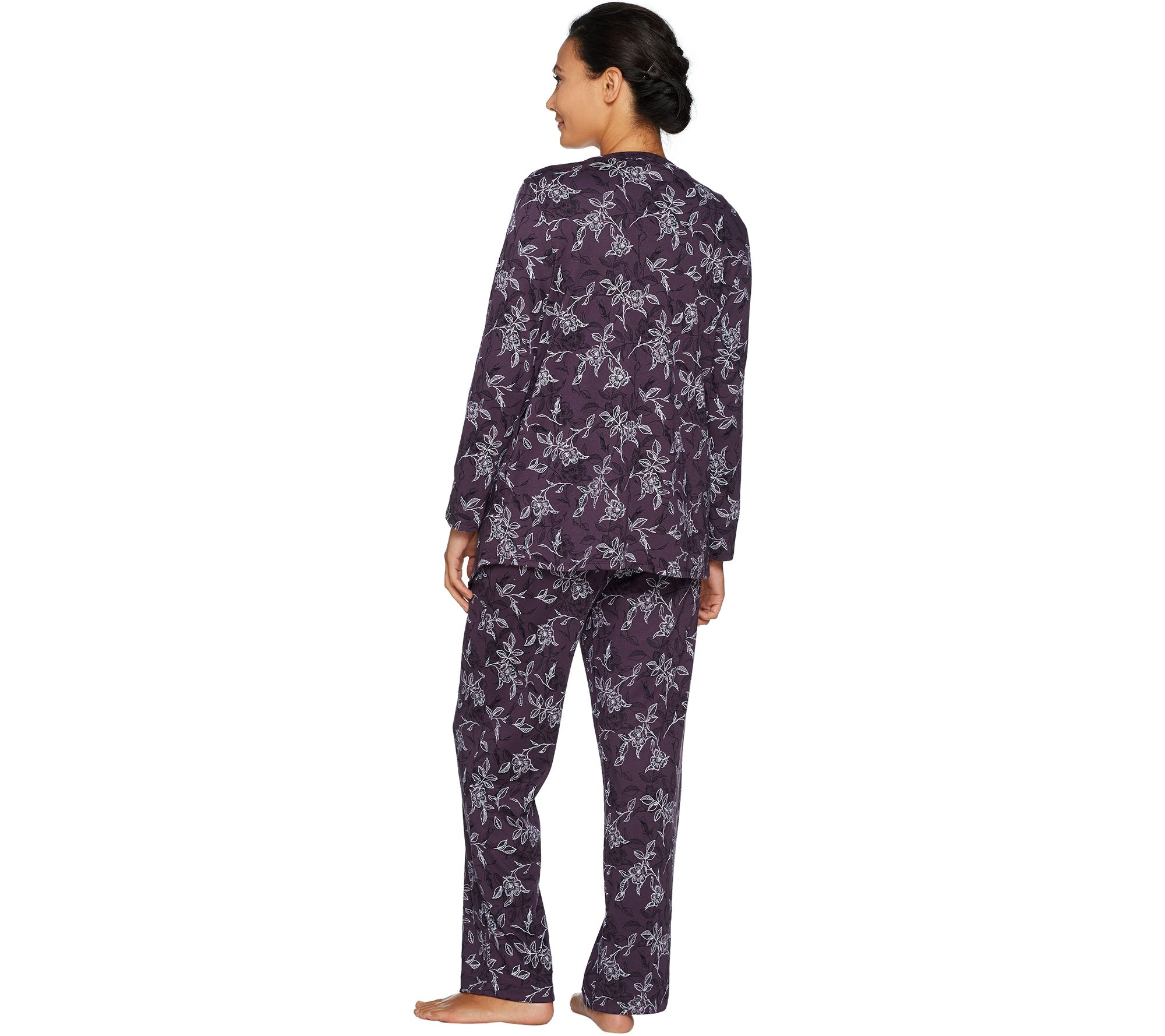 Carole Hochman Interlock Etched Floral 3 Piece Pajama Set Page 1