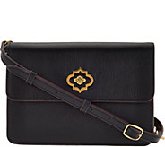As Is orYANY Pebble Leather Crossbody - Ivy - A294706