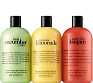 philosophy summer coolers shower gel trio - A296706