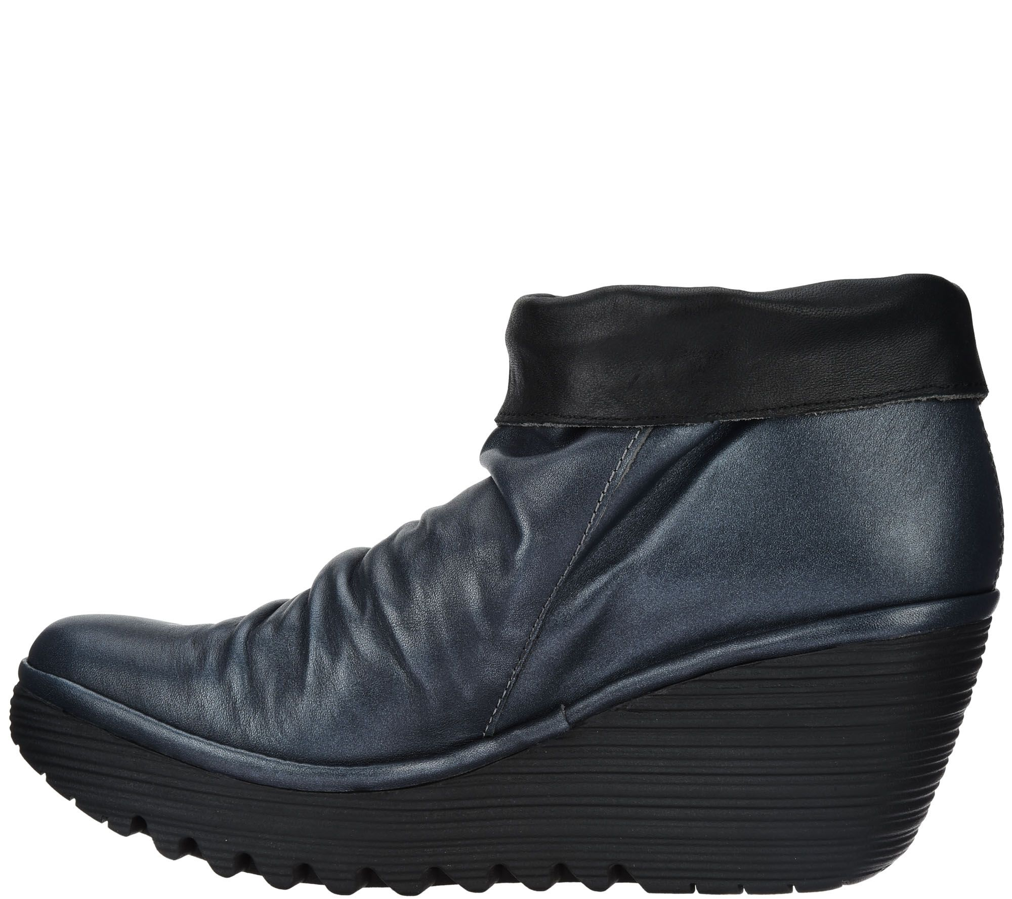 70ae8e056e9 FLY London Leather Wedge Ankle Boots - Yoxi - Page 1 — QVC.com