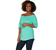 Belle by Kim Gravel Knit Pom Pom Top - A304406