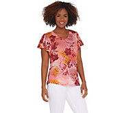 Susan Graver Printed Novelty Knit Top - A306506