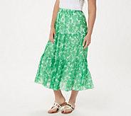 Linea by Louis DellOlio Tie Dye Boho Skirt - A306906
