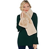 Martha Stewart Faux Fur Pull-Through Stole Scarf - A346406