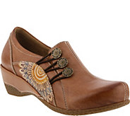 Spring Step LArtiste Leather Slip-On Shoes - Agacia - A359406