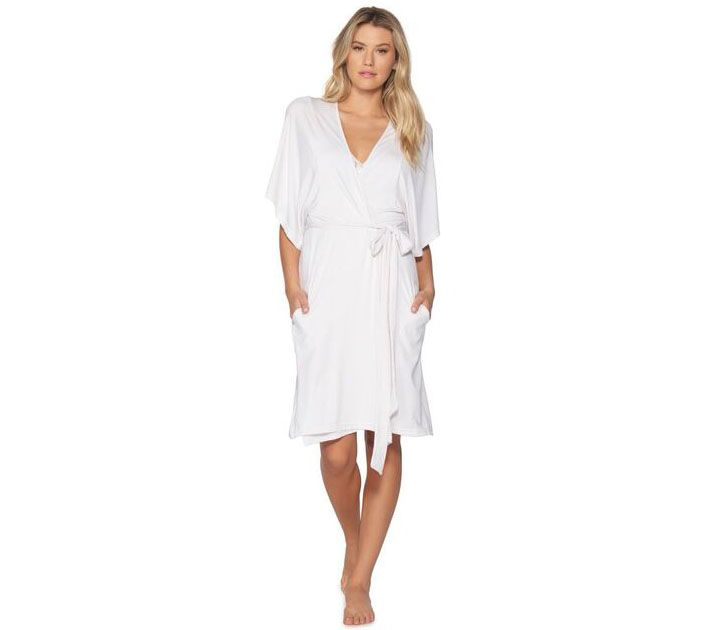050fabb9f1 Barefoot Dreams Luxe Milk Jersey Short Robe - Page 1 — QVC.com
