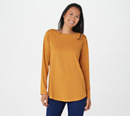 Joan Rivers Luxe Knit Long Sleeve Top with Back Button Detail - A366206