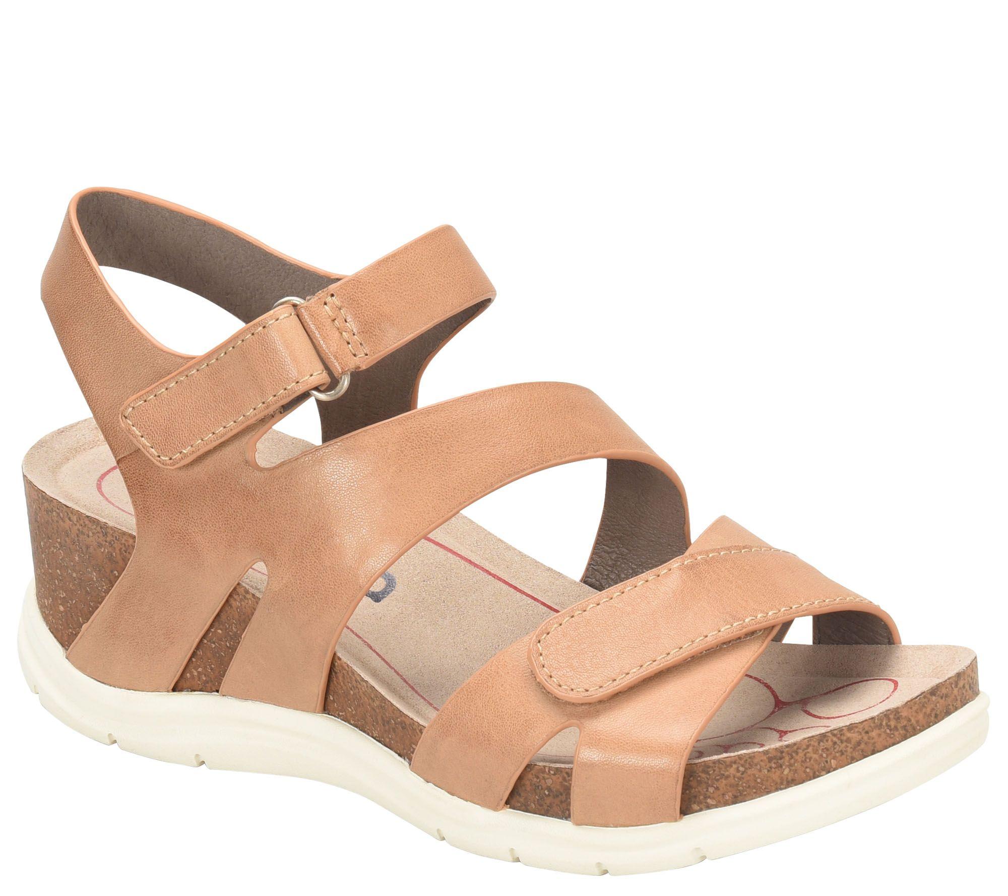 58e4c00f643108 Bionica Leather Sandals - Passion — QVC.com