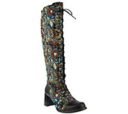 LArtiste by Spring Step Leather and Textile Boots - Rarity - A414806