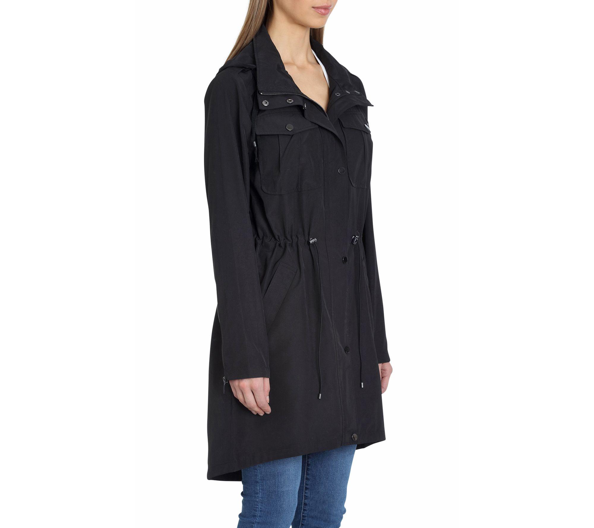 46e612059e9 Badgley Mischka Dakota Water-Resistant Anorak Jacket — QVC.com