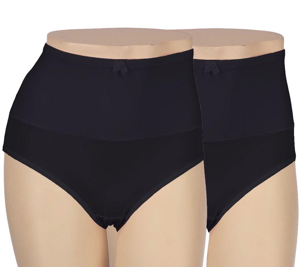 0fc60e2dbb Carol Wior S 2 Microfiber Belly Band Shapewear Brief Panties - Page 1 —  QVC.com