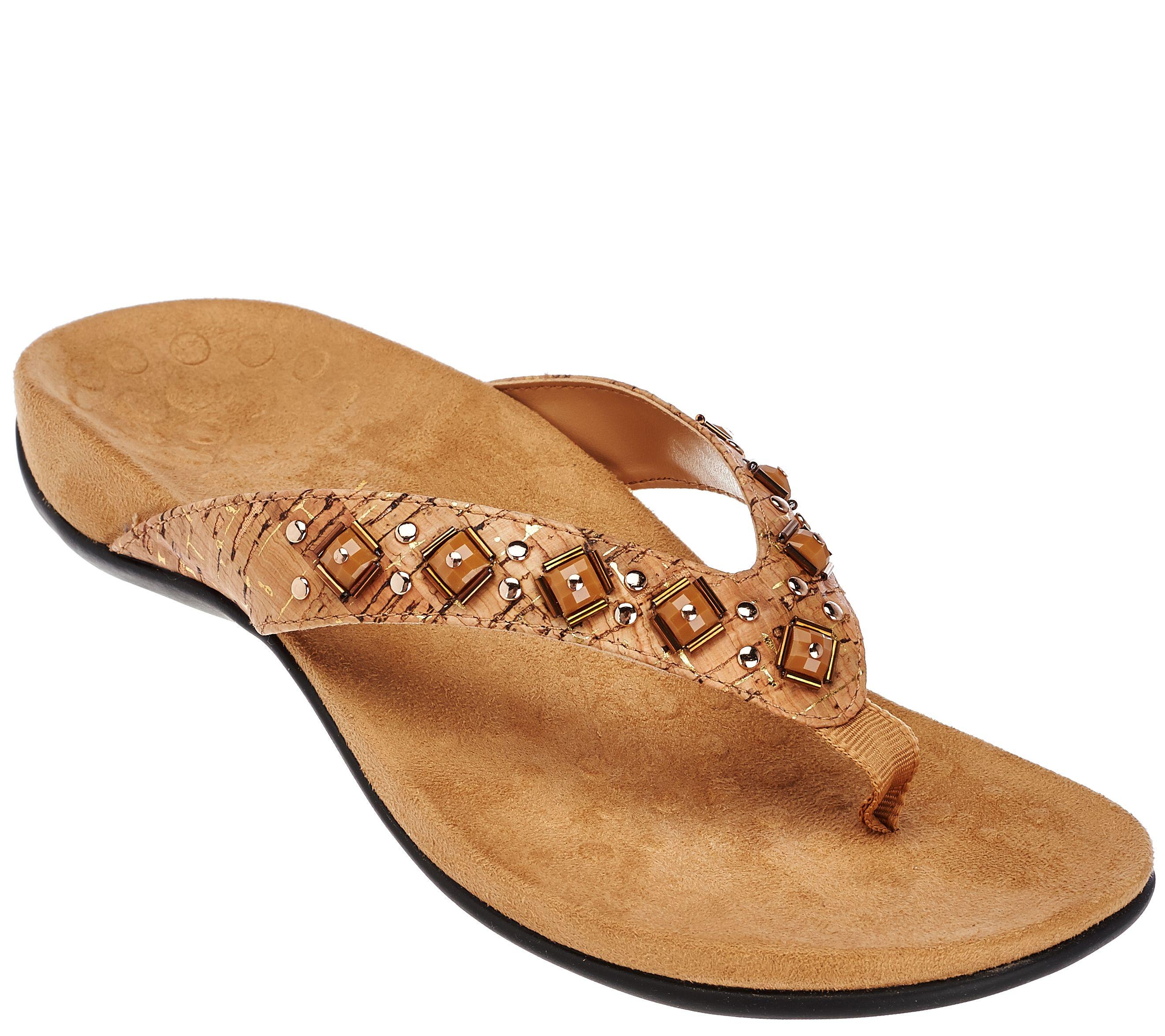 8cbd2665de67f2 Vionic w  Orthaheel Embellished Thong Sandals - Floriana - Page 1 — QVC.com