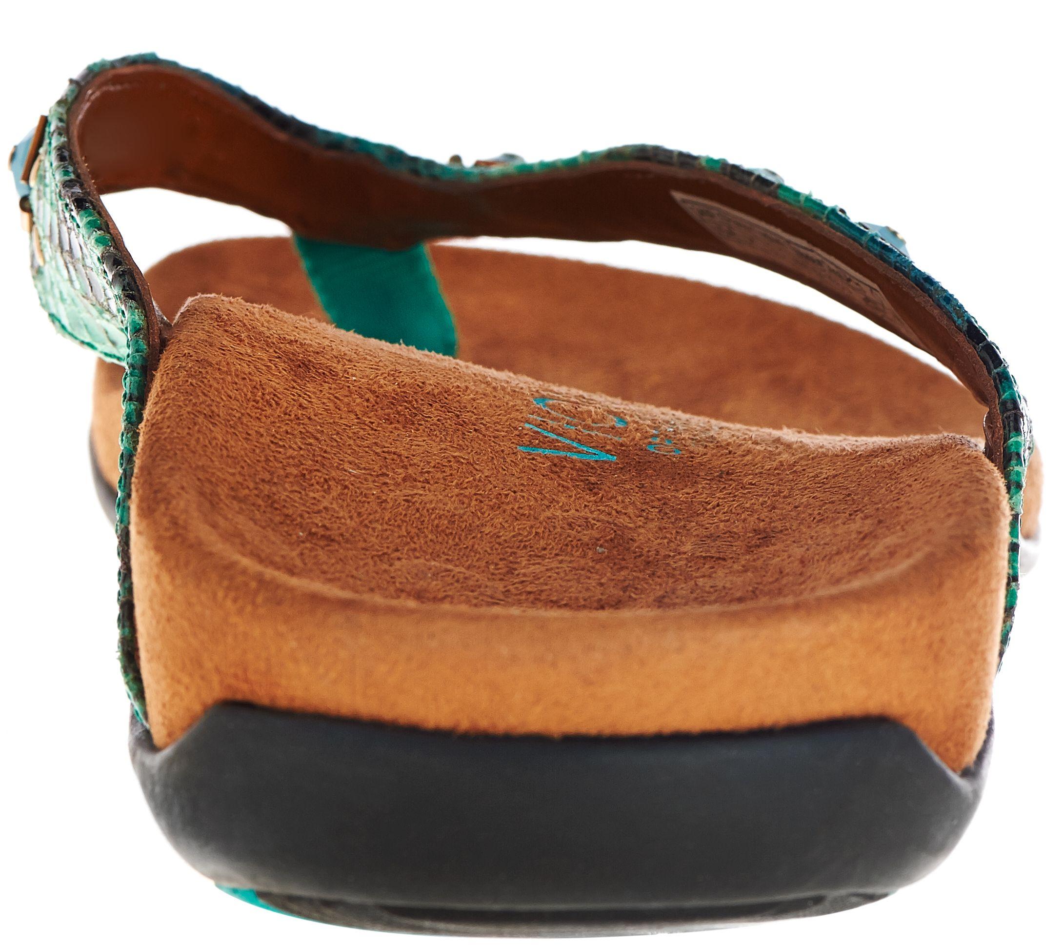 ecf431cb620 Vionic w  Orthaheel Embellished Thong Sandals - Floriana - Page 1 — QVC.com