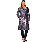 Isaac Mizrahi Live! Special Edition Floral Tapestry Coat - A283807