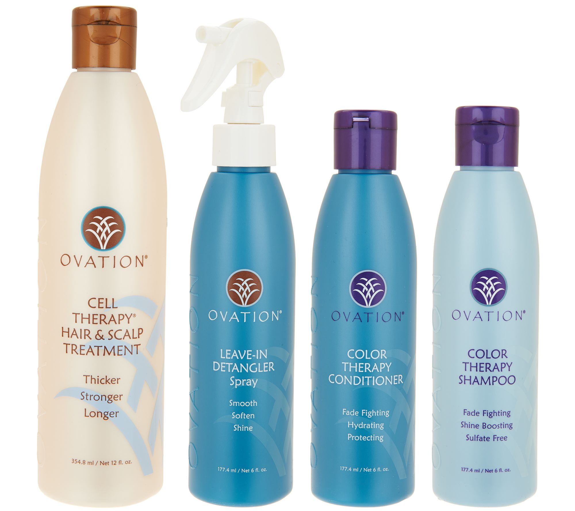 qvc hair styling products ovation cell therapy 4 hair care set qvc 6929