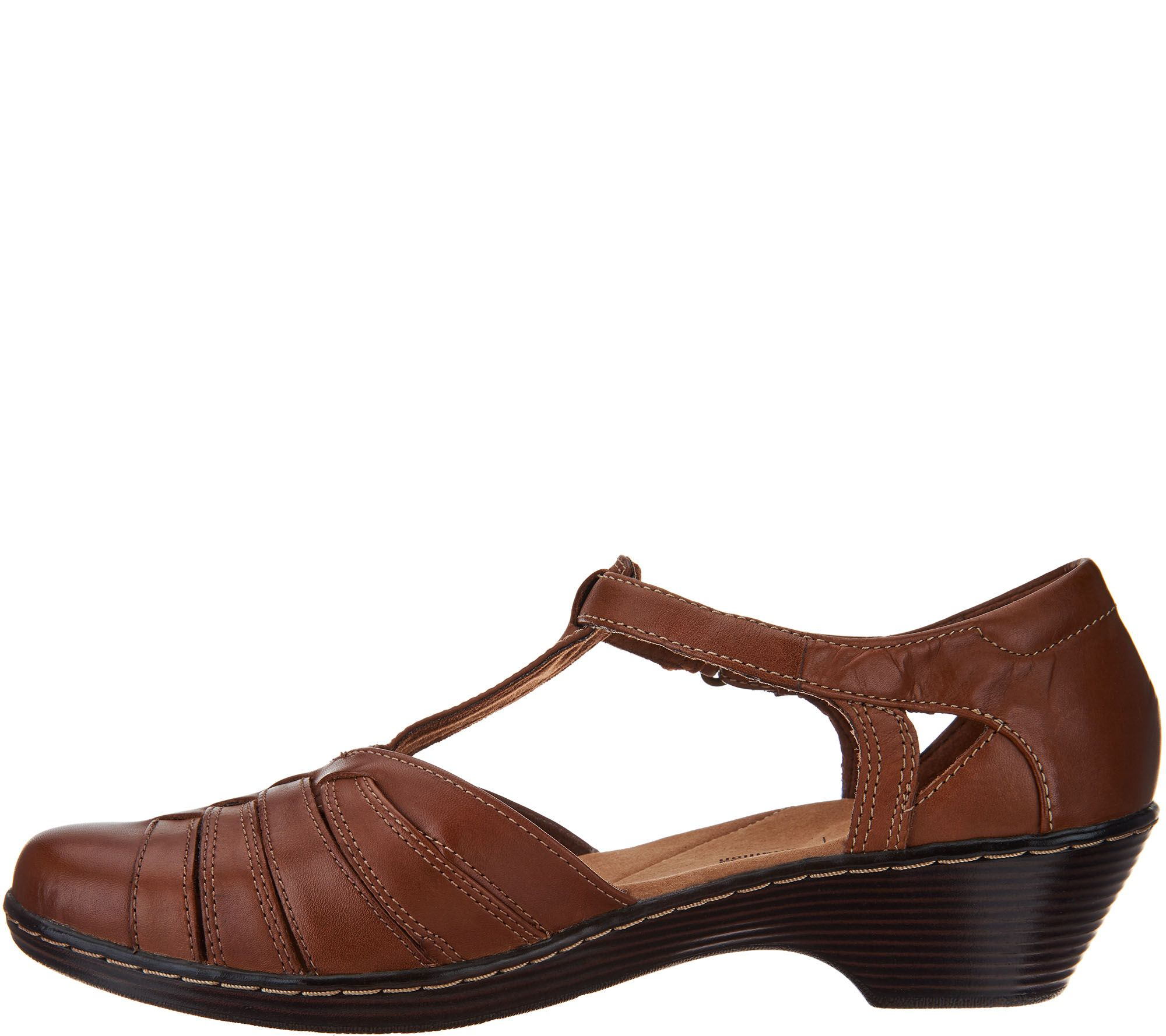 8a4cbc43527 Clarks Leather Adjustable Fisherman Sandals - Wendy Alto - Page 1 — QVC.com