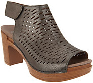 Dansko Perforated Leather Heeled Sandals - Danae - A303507