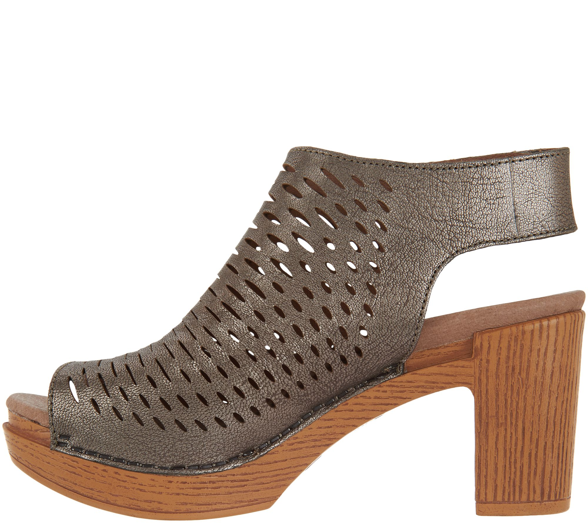 8112453a60a Dansko Perforated Leather Heeled Sandals - Danae - Page 1 — QVC.com