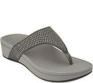 Vionic Suede Platform Sandals w/ Rhinestones - Naples - A305007