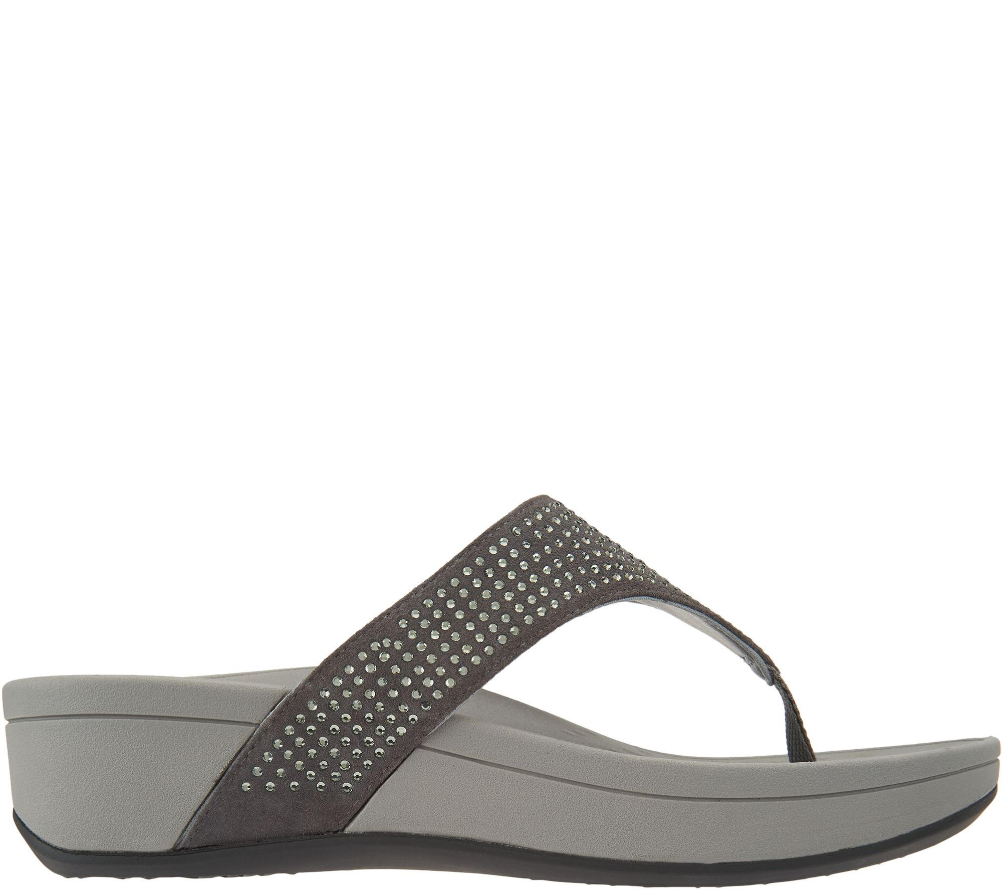81f6e8183991 Vionic Suede Platform Sandals w  Rhinestones - Naples - Page 1 — QVC.com