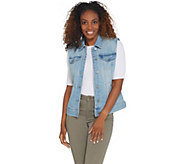 Laurie Felt Classic Denim Button Front Vest - A310007