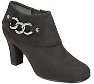 A2 Heel Rest Booties w/ Chain Detail - First Role - A338407