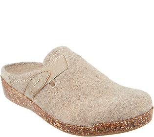Earth Origins Felt Slip-On Clogs with StrapDetail - Jenna