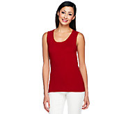 Linea by Louis DellOlio Whisper Knit Scoop Neck Tank - A253408