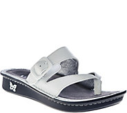 Alegria Leather Thong Sandals w/ Strap Detail - Valentina - A262508