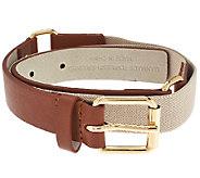Isaac Mizrahi Live! Leather Belt w/ Harness Buckle - A264208