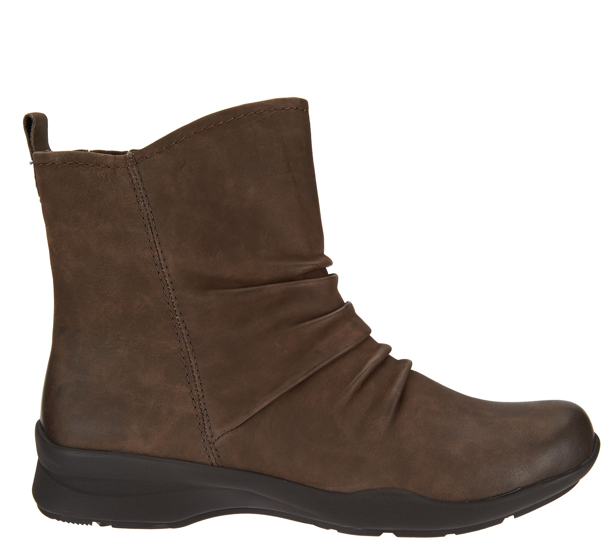 8561ea93748ff Earth Leather Boots with Ruching - Treasure - Page 1 — QVC.com