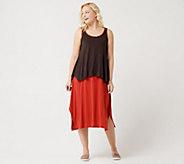 LOGO by Lori Goldstein Asymmetric Maxi Dress and Tank Twin Set - A288008