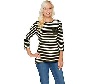 Denim & Co. Perfect Jersey Striped Top