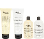philosophy fresh & creamy body lotion & scrub 4-piece set - A299708