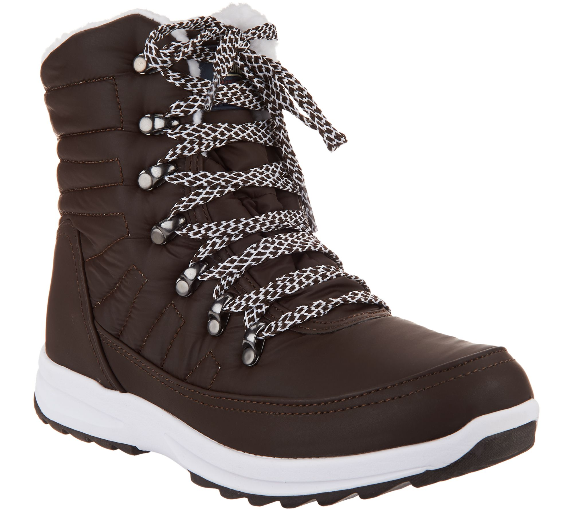 88a3ddadadc Khombu Waterproof Lace-up Ankle Boots - Alegra — QVC.com